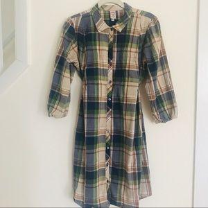 Molly New York Plaid Dress 3/4 Sleeved Sz Med